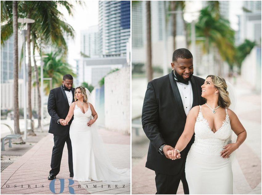 dowtown miami wedding photography